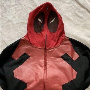🆕 Marvel Deadpool Zip Up Hoodie Costume Cosplay